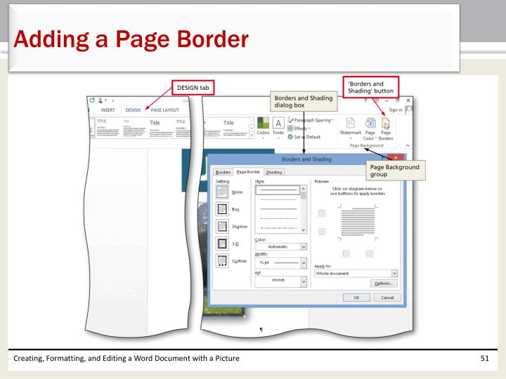 Adding a Page Border