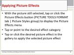 applying picture effects