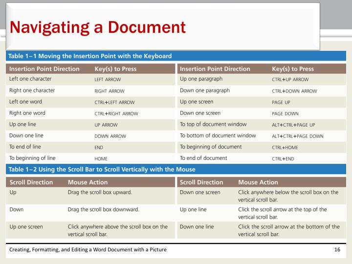 Navigating a Document