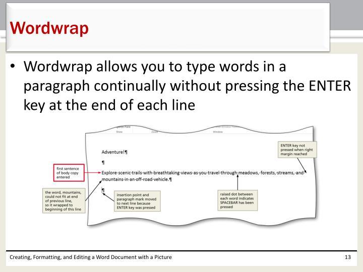 Wordwrap
