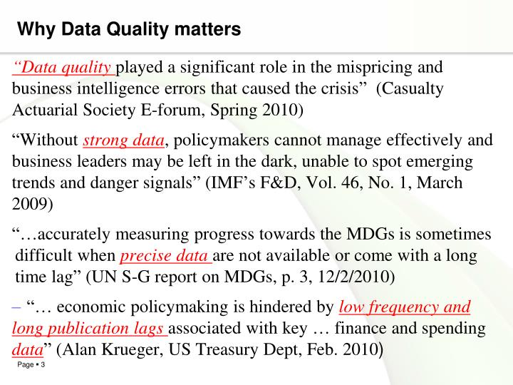 Why Data Quality matters