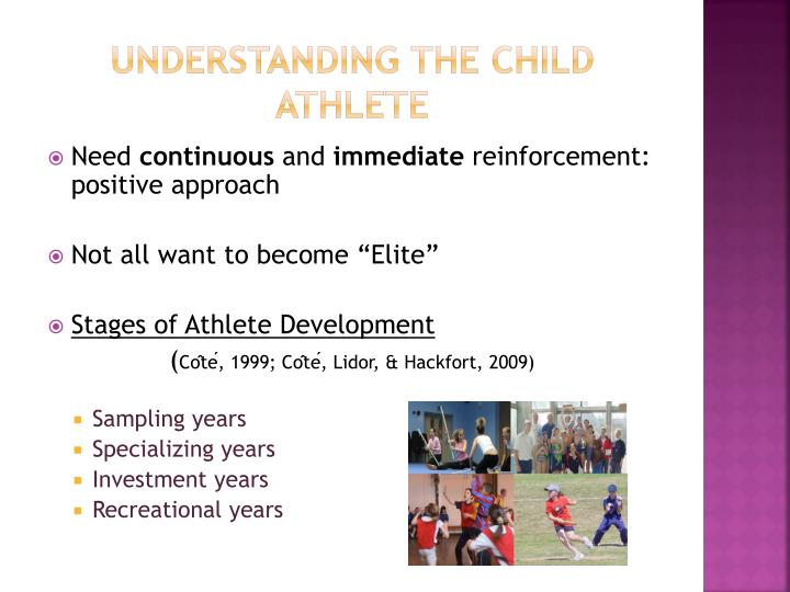 Understanding the child athlete