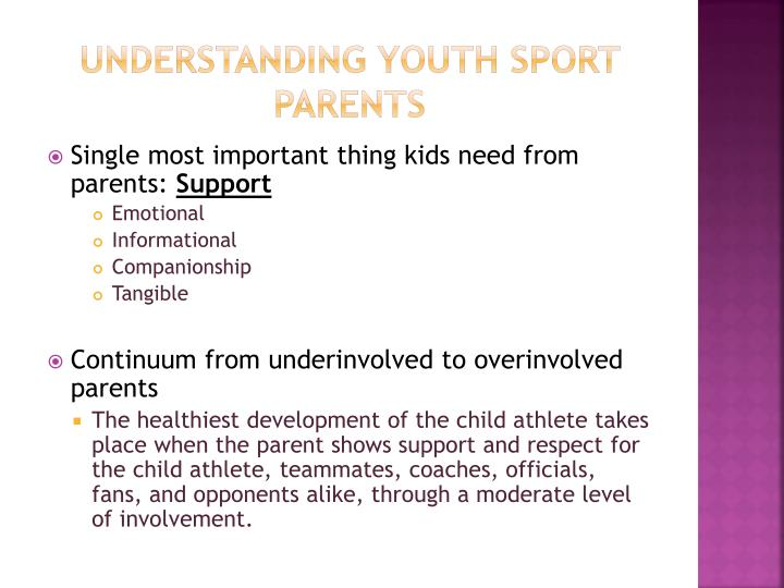 Understanding youth sport parents