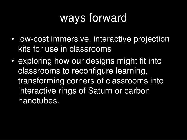 ways forward