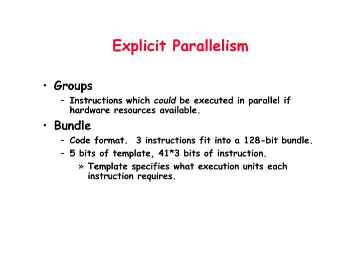 Explicit Parallelism