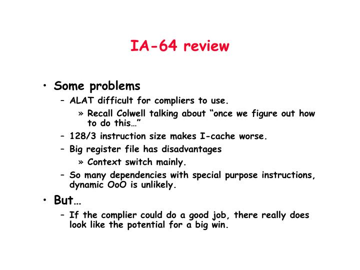IA-64 review