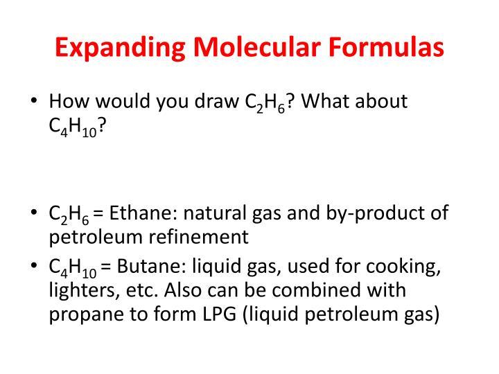 Expanding Molecular Formulas