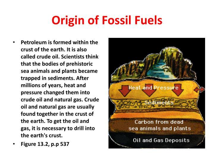 Origin of Fossil Fuels