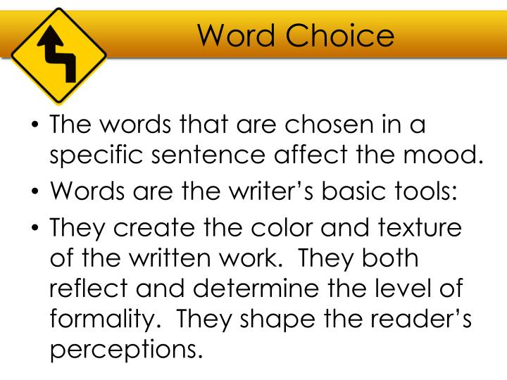Word Choice