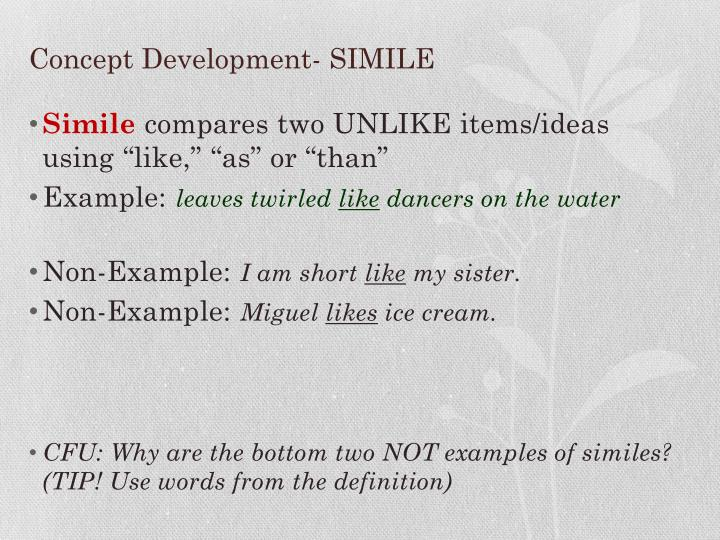 Simile Examples And Definition Of Simile Literary Devices
