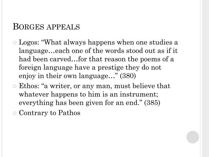 Borges appeals