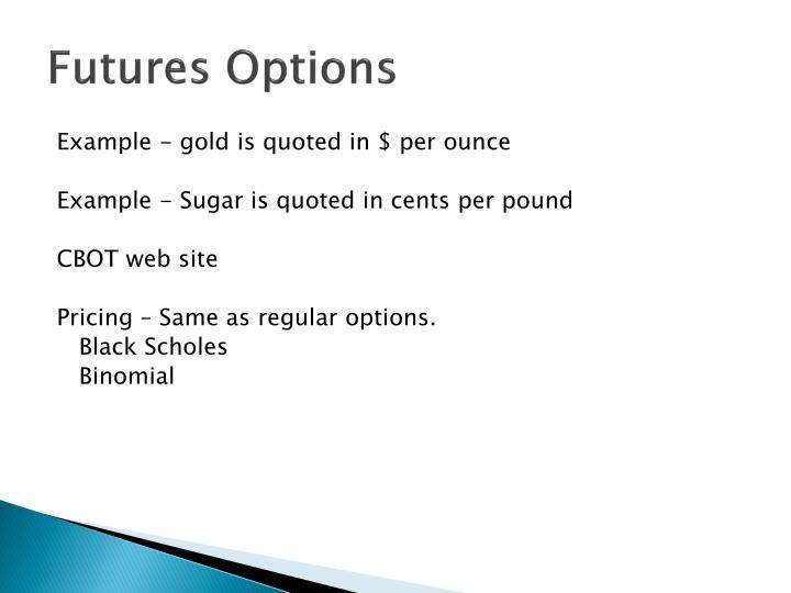 Futures Options