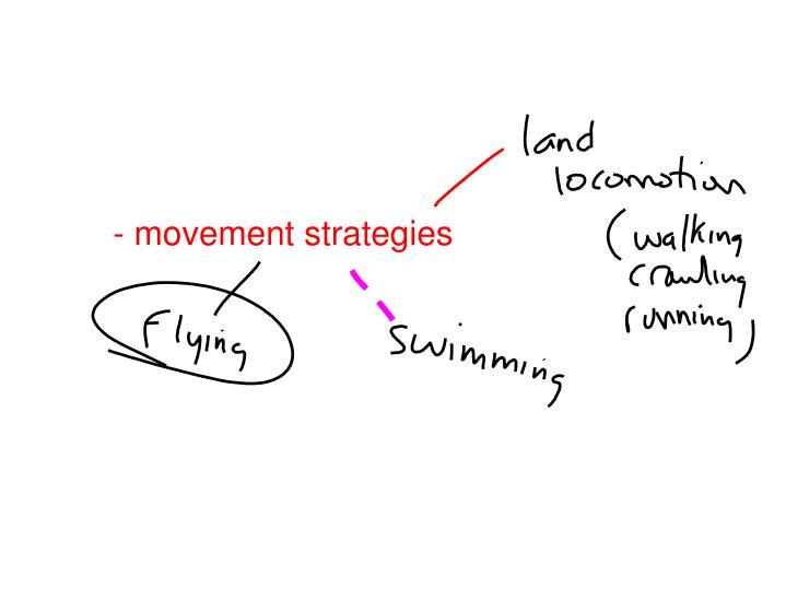 - movement strategies