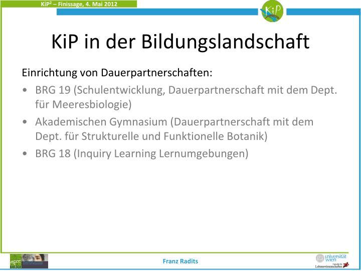 KiP in der Bildungslandschaft
