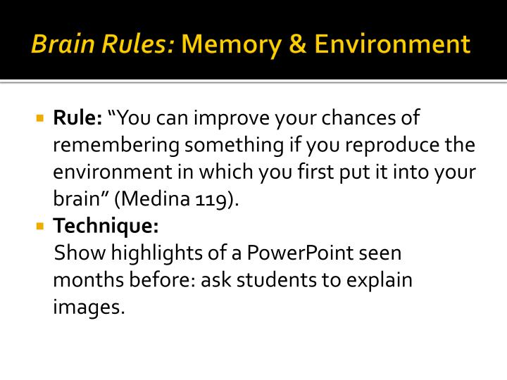 Brain Rules: