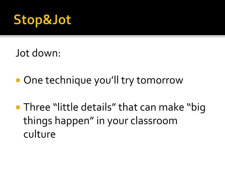 Stop&Jot
