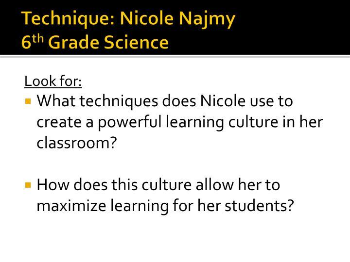 Technique: Nicole Najmy