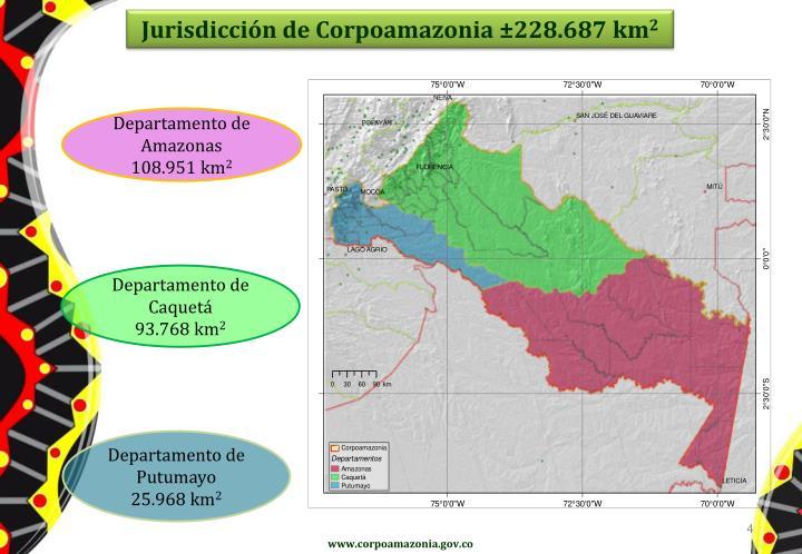 Jurisdicción de Corpoamazonia ±228.687