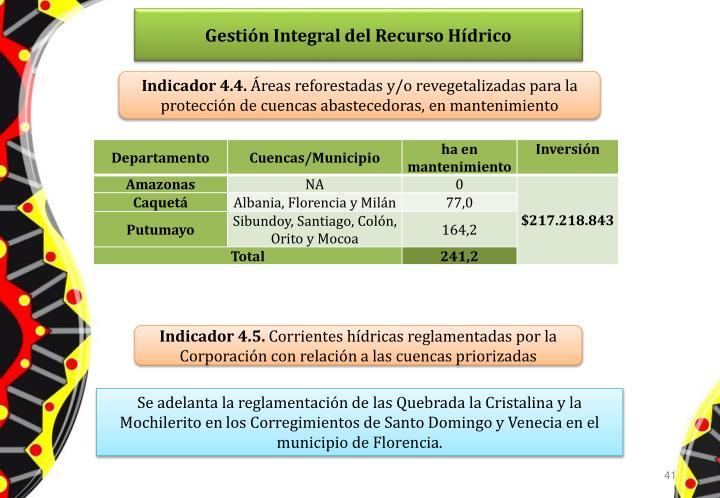 Gestión Integral del Recurso Hídrico