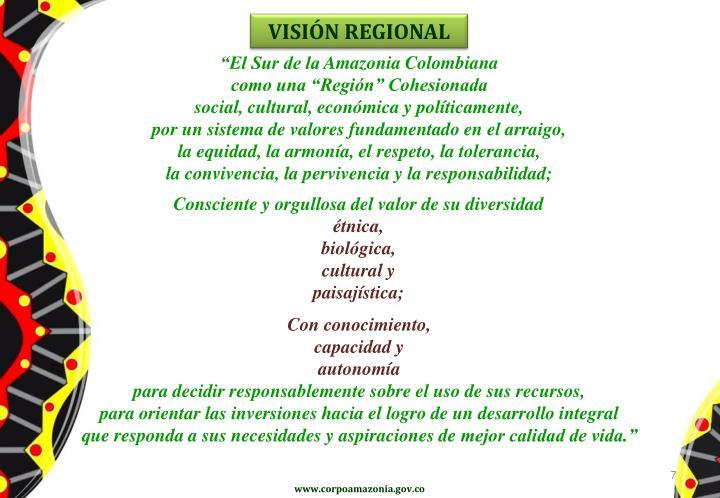VISIÓN REGIONAL