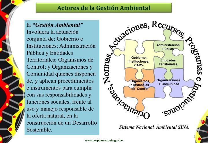 Actores de la Gestión Ambiental