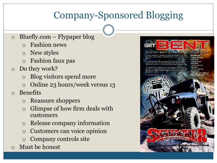 Company-Sponsored Blogging