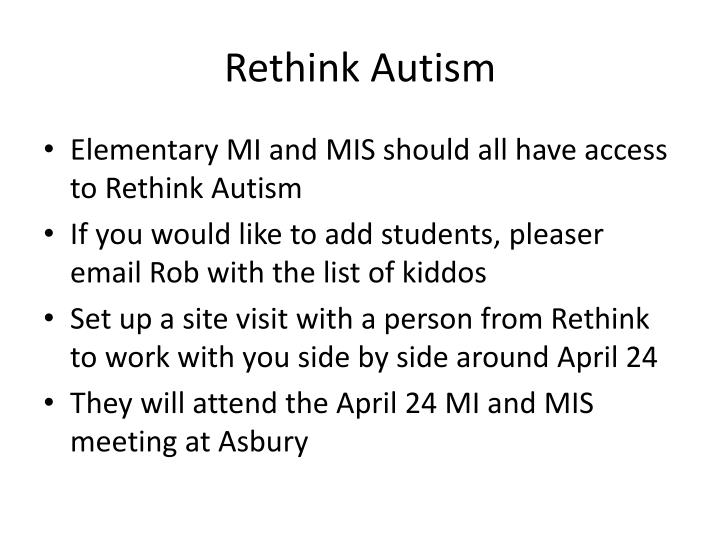 Rethink Autism