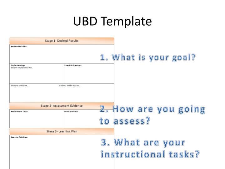 UBD Template