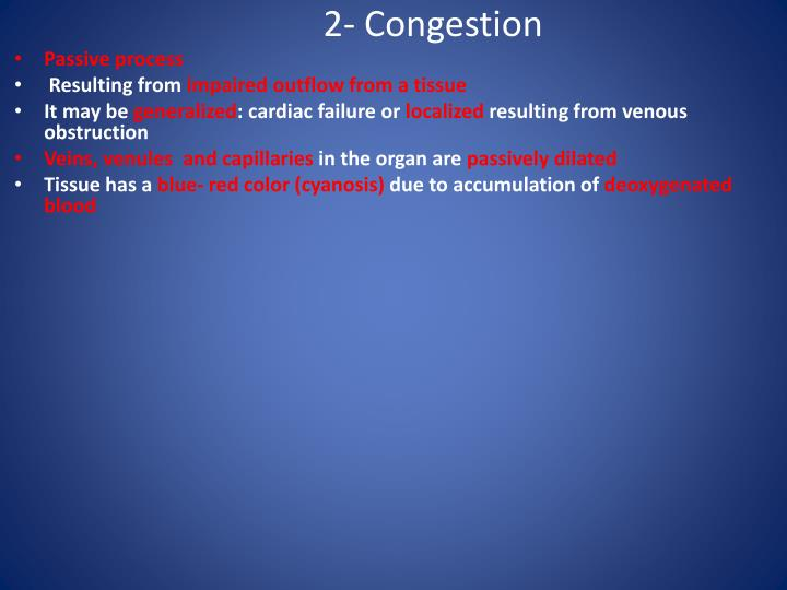 2- Congestion