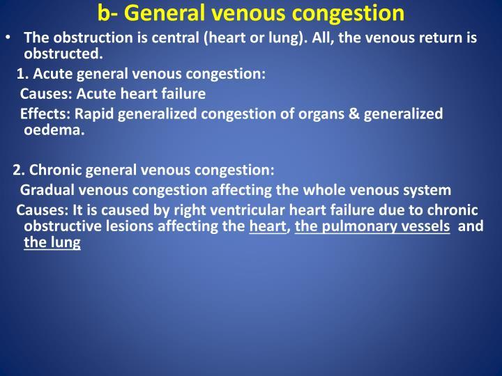 b- General venous congestion