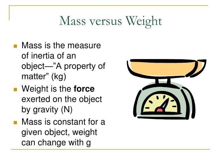 Mass versus Weight