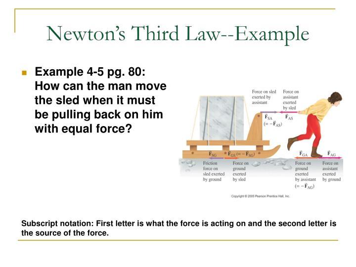 Newton's Third Law--Example
