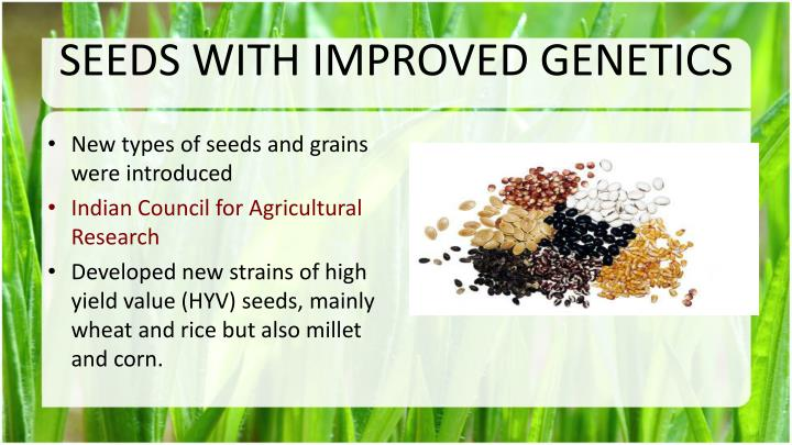 SEEDS WITH IMPROVED GENETICS
