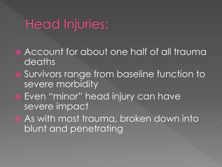 Head Injuries: