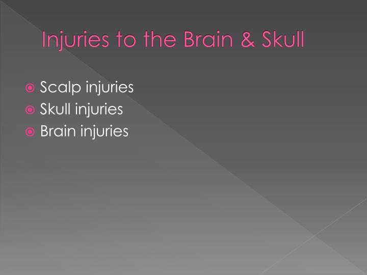 Injuries to the Brain & Skull