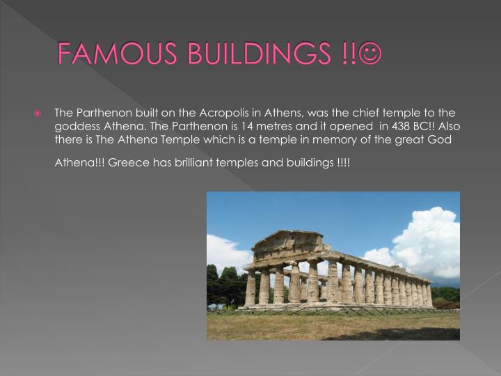FAMOUS BUILDINGS !!