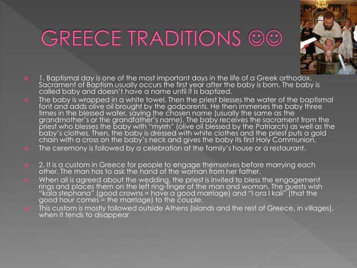 GREECE TRADITIONS