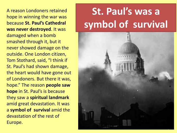 St. Paul's was a symbol of  survival