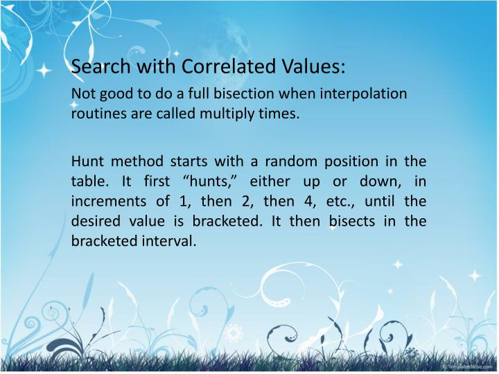 Search with Correlated