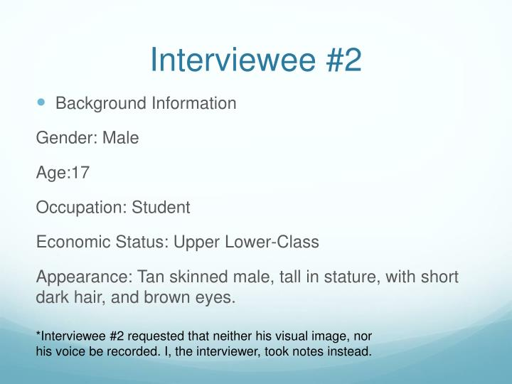 Interviewee #2