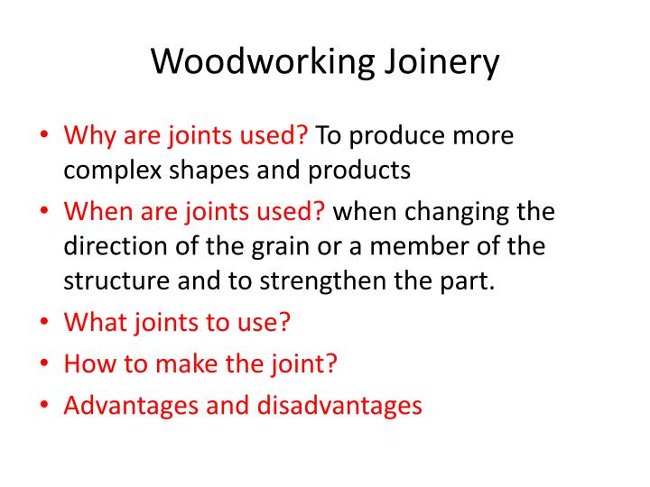 Woodworking joinery1