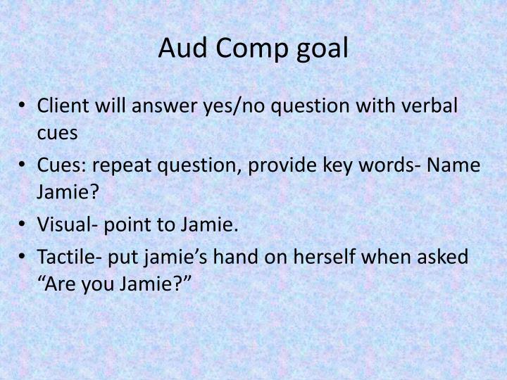 Aud Comp goal