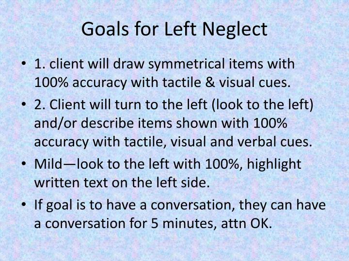 Goals for Left Neglect