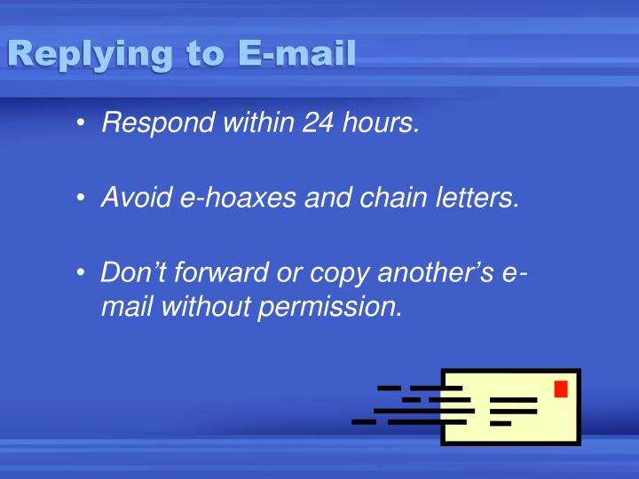 Replying to E-mail