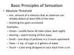 basic principles of sensation1