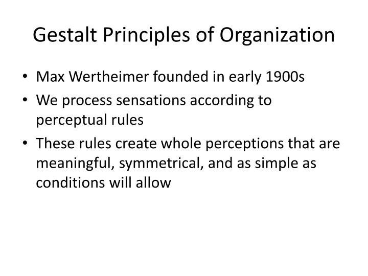 Gestalt Principles of Organization