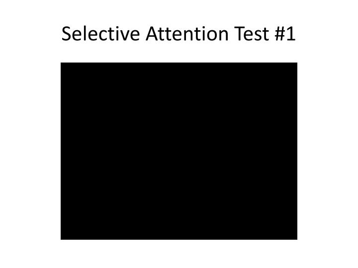 Selective Attention Test #1