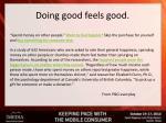 doing good feels good