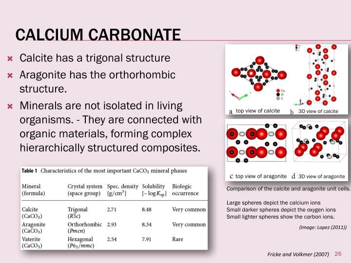 Calcite has a