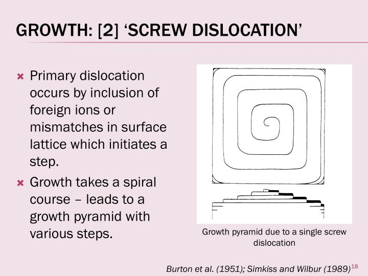 Growth: [2] 'Screw Dislocation'